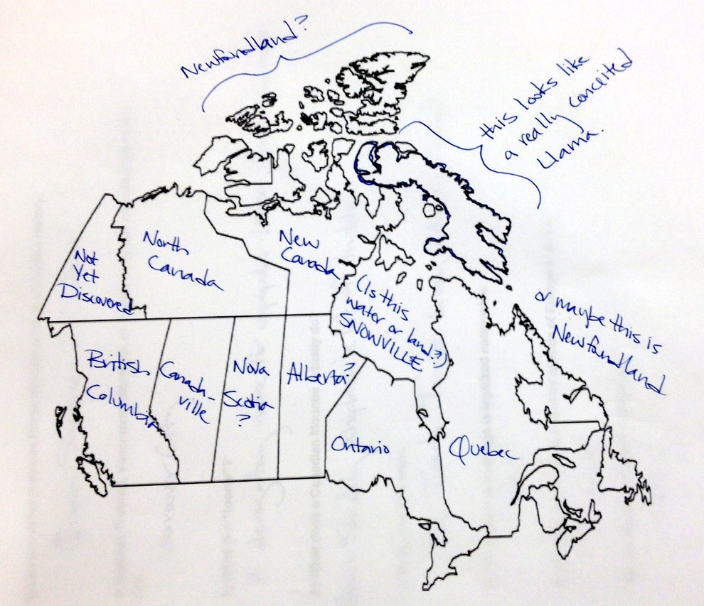 PHOTOS Americans Have No Idea Where Manitoba Is Access Winnipeg - Map of the us not labeled