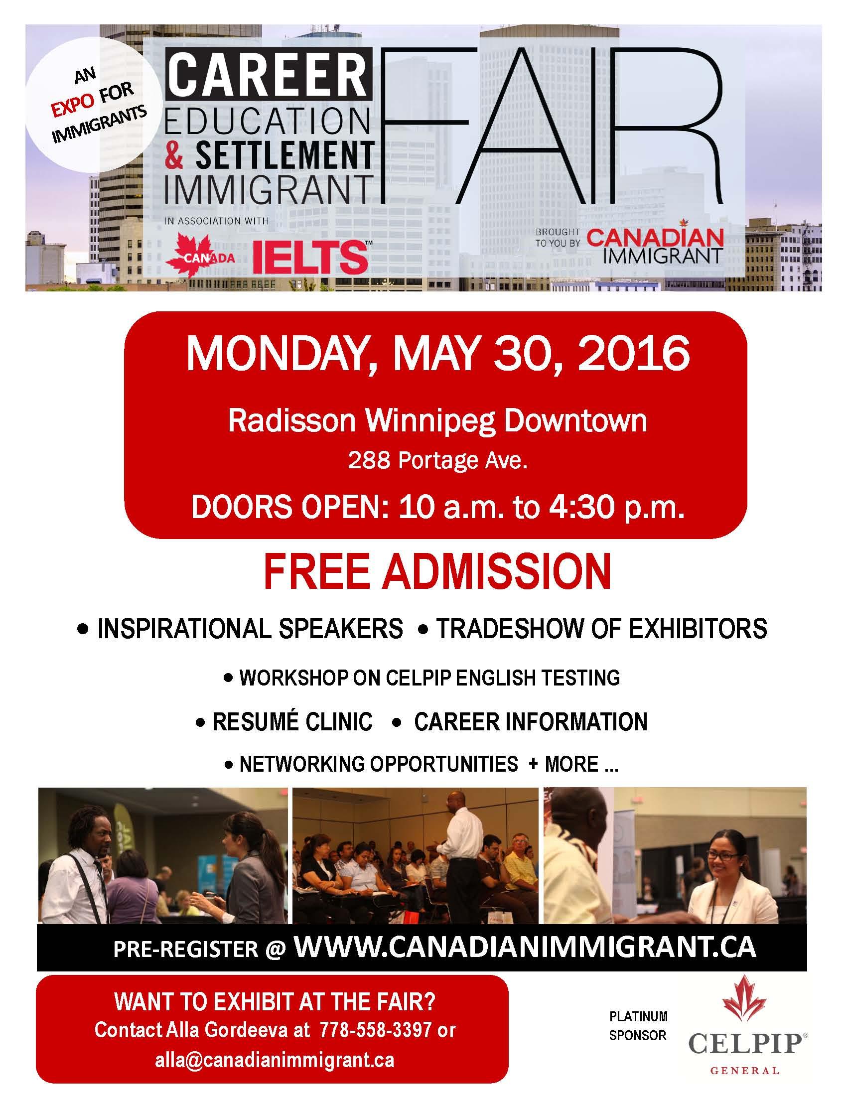 career  education and settlement fair