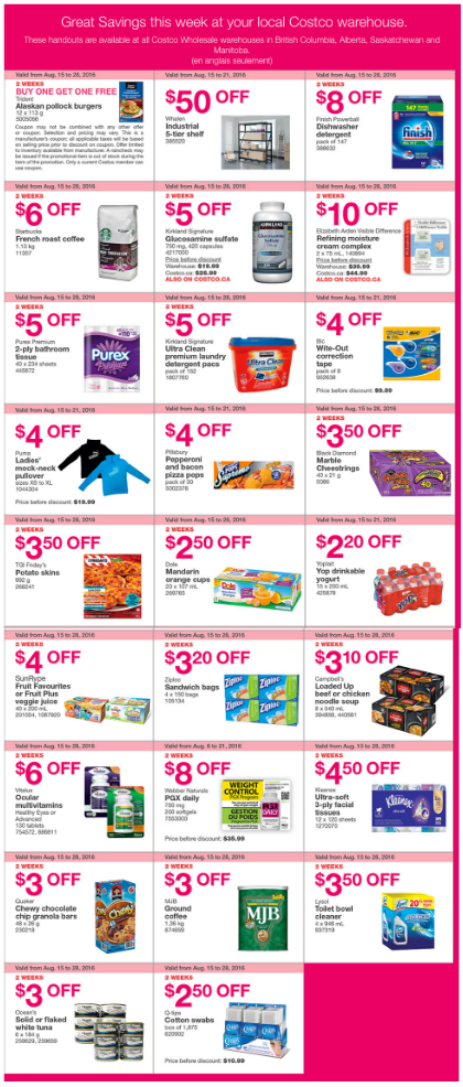 Costco Manitoba Weekly Flyer August 15 21 Access Winnipeg