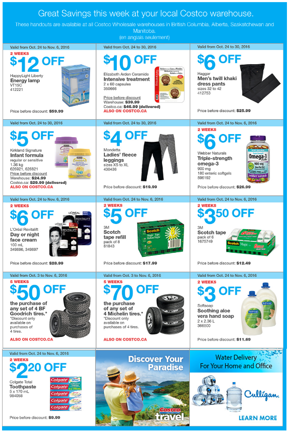 Costco manitoba weekly flyer october 24 to 30 access winnipeg